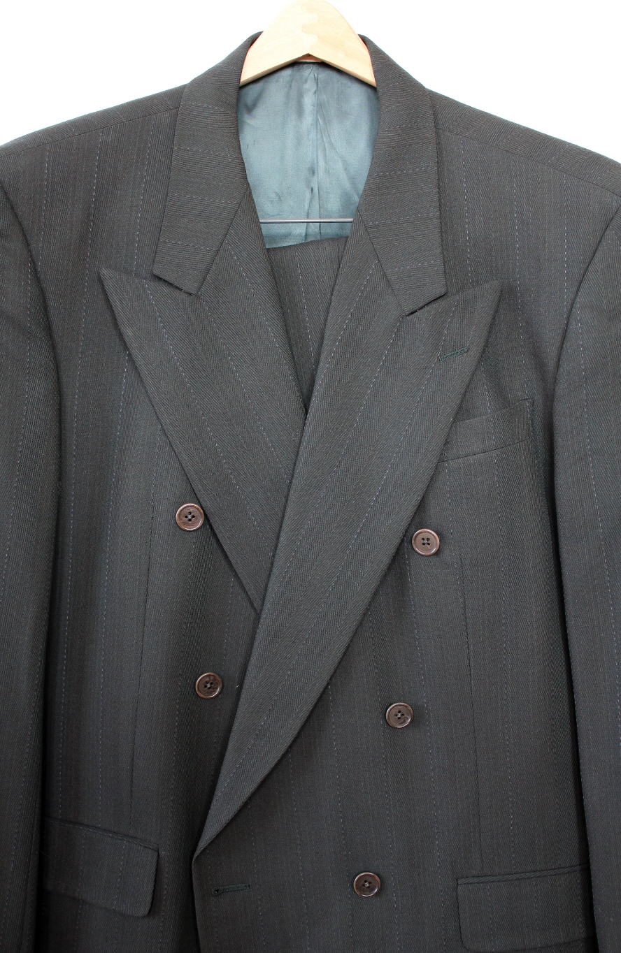 Karl Lagerfeld Mens Double Breased Suit Size 42 L